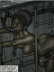 Hot threesome cartoon fucking with a blonde shemale with a black cock