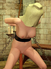 White sissy made serves two hot ebony dominas and their male partner 3d art